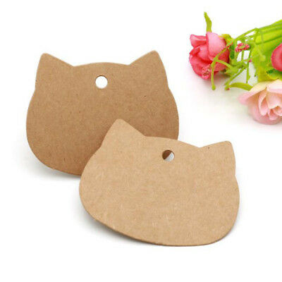 Cat Head Gift Wrapping Small Card Wishing Label Card Kraft Paper Hang Tags one