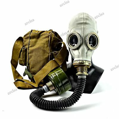 Soviet USSR military army Gas mask GP-5 with black hose NEW
