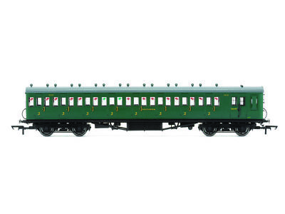 Hornby R4792 Personenwagen 58ft Maunsell Rebuilt Ex-LSWR 48 Eight Compartment Br