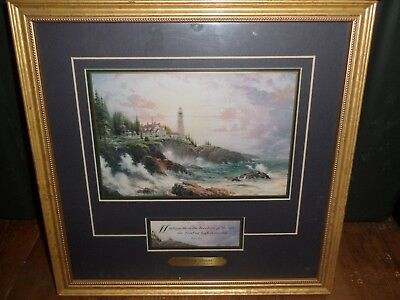 Thomas Kinkade -  Print Clearing Storms - Framed & Matted  W/COA