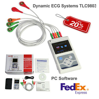USA Fedex 24 hours 3 Channel ECG/EKG Holter Monitor System USB Software,CONTEC