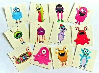 MONSTER Temporary Tattoos Boys Girls Kids Party Bag Fillers - Choose Quantity