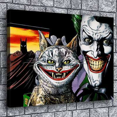 "24""x32""Batman The Joker HD Canvas prints Painting Home decor Picture Wall art"