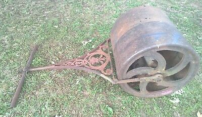 Antique Vintage Cast Iron Garden Lawn Grass Roller - Cafe Mancave