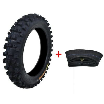 "KENDA 80/100 - 12"" Inch Rear Knobby Tyre Tire + Tube PIT Trail Dirt Bike 3.00-12"