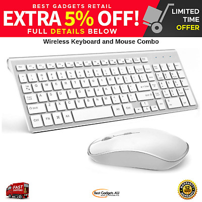 JOYACCESS Wireless Keyboard And Mouse Combo Full-size Compact For PC And Mac NEW
