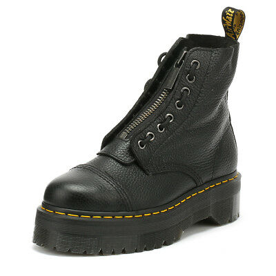 Dr. Martens Sinclair Womens Black Boots Leather Platform Winter Shoes