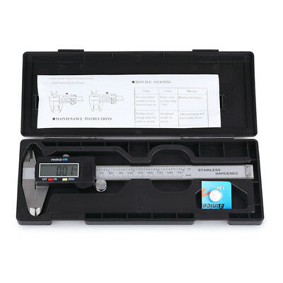 "6"" 150MM LCD Digital Vernier Caliper Stainless Steel Micrometer Electronic Gauge"