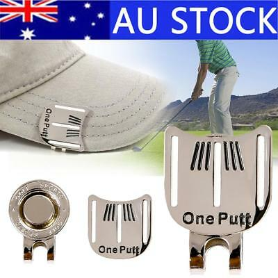 Golf Ball Marker Putting Putt Alignment Aiming Magnetic Hat Golf Cap Clip Tool