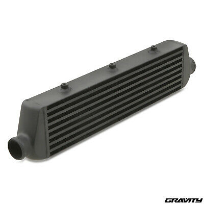 54Mm Universale Nero Alluminio Turbo Kit Car Montaggio Frontale Intercooler Fmic
