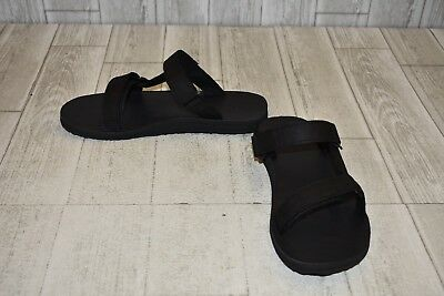 dedbc8ec155e TEVA MENS BLACK Universal Slide Leather Sandal- Size 8 - 1011503 ...