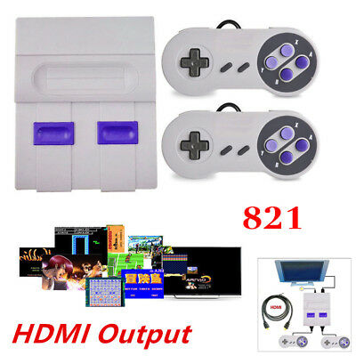 Mini Classic Console With HDMI Output 821 Built-In Super Nintendo Games Set