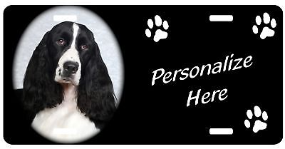 English Springer Spaniel   Personalized license plate