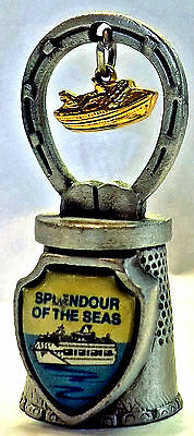 """SPLENDOUR OF THE SEAS boat charm Fort pewter thimble approx 1 3/4"""" tall  UC"""