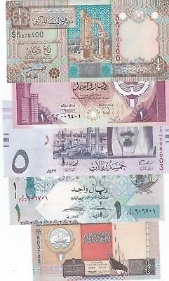 World Lot Of 5 Different Banknotes Unc//aunc (S)