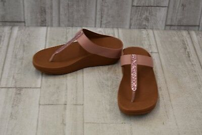 ef176e094 FITFLOP FINO CRYSTAL Toe-Thong Sandals - Women s Size 6 - Blush ...