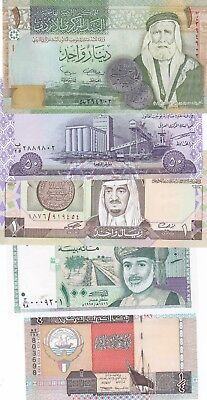 World Lot Of 5 Different Banknotes Unc/aunc.(S)
