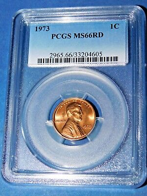 1973 1C Lincoln Memorial Cent-PCGS MS66RD--228-1