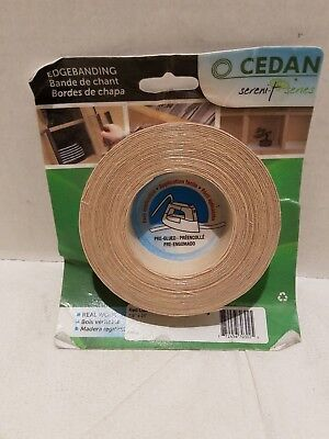 CEDAN RED OAK Iron-On Melamine Wood Edgebanding 7/8