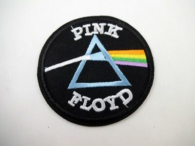 """Pink Floyd 2 1/2"""" Embroidered Dark Side of the Moon Iron On Patch Prog Rock"""