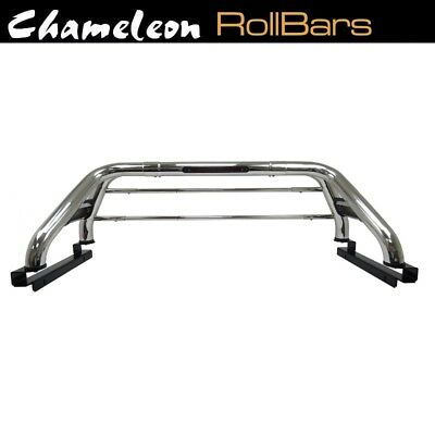 Chrome Finished Roll Bar for Nissan Navara 2008 - 2015 with Tonneau Brackets