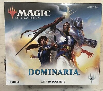 Magic the Gathering MTG Dominaria Bundle Factory Sealed With 10 Boosters