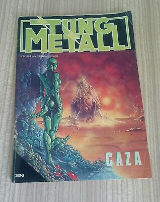 1987 tung metall heavy metal magazine/comic book caza