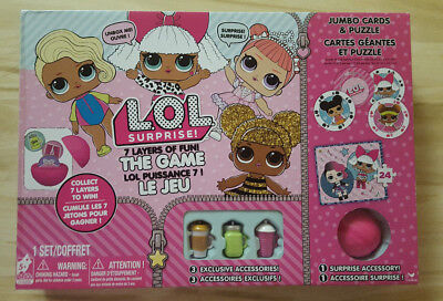LOL Surprise Doll 7 Layers Of Fun Board Game. Play, Unbox, Trade, Accessoris NEW