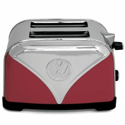 Officially Licensed Red VW Campervan 2 Slice Toaster Stainless Steel