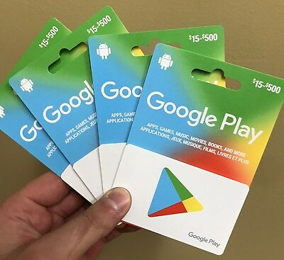 Google Play Gift Cards - $500 Email Delivery