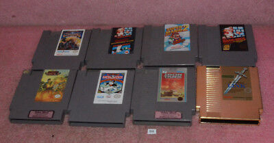 Lot of 8 NES Nintendo Entertainment System Games_Super Mario2_Zelda II_Iron Tank