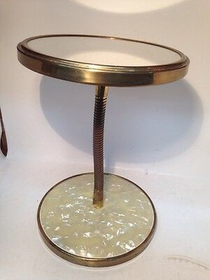 Vintage Brass Double Ended 2 Sided Makeup Mirror with Flex Neck 10.5 tall X 7.5