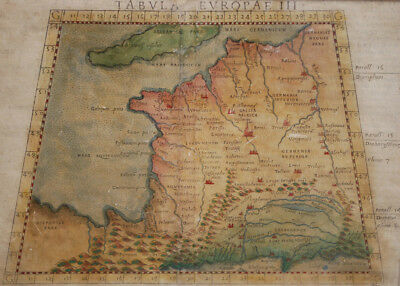 Tabula Europae III - Antique Map of France Geographica Vintage Europe