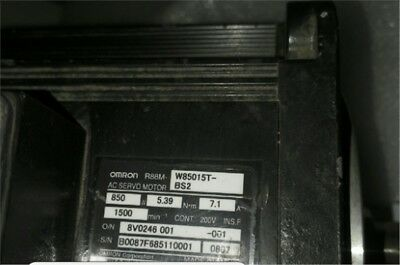 1Pc Omron Servo Motor R88M-W85015T-BS2 Used be
