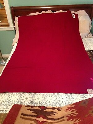 Woolrich Dark Cranberry Camping Stadium Throw Blanket 60 X42 W Tags Nos