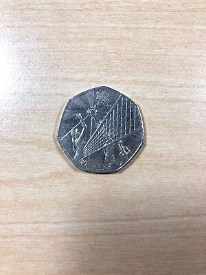 London 2012 Olympics 50P Fifty Pence - Volleyball (Circulated)