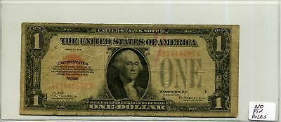 United States Note $1 One Dollar 1928 Red Seal in Circ Condition SN A01445597A