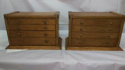2 X Scratch Built Solid Oak Engineers Draws