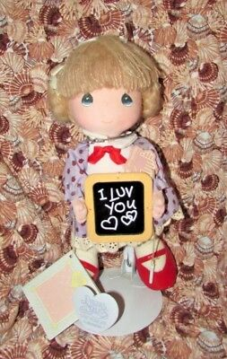 Precious Moments Vintage Doll I Love You With Original Tags And Stand