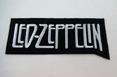 "Led Zeppelin 4"" Embroidered LOGO Iron On Patch Plant Paige Hard Rock"
