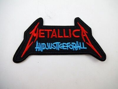 METALLICA Iron On IN JUSTICE FOR ALL Patch Speed Heavy Metal GOTH Deathrock Punk