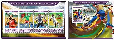 Z08 Imperf TG17201ab Togo 2017 Football - African Cup MNH Mint Set