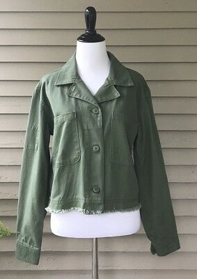 8f0dadeb1a3af NWT! Anthropologie Sanctuary Cropped Utility Jacket in Fatigue Green. Size  Large