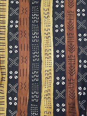 FREE SHIPPING! Authentic African Mud Cloth Fabric Handwoven