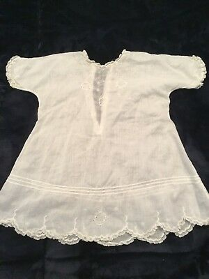 """Vintage 1930's Baby Blessing, Christening Dress, White, Lace 18"""""""