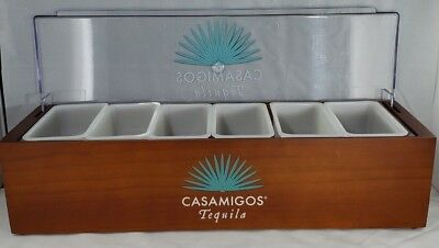 Casamigos Tequila Bar Condiment Dispenser Caddy 6 Fruit Tray Chilled Garnish