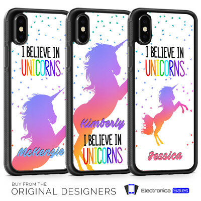 Personalised Unicorn Custom Name Initials Phone Case for iPhone X XS XR 8 7 6 6S