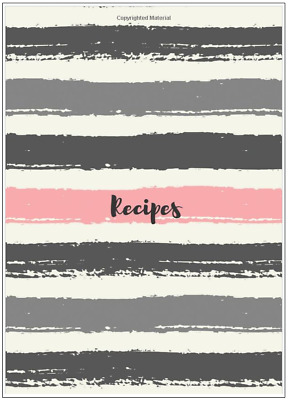 Pink and Gray Blank Recipe Journal Cooking Book Write In Cookbook Diary