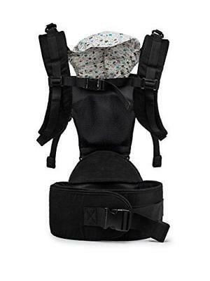 Five Position Baby Carrier with Hip Seat AND Hoodie – Baby Backpack and Kangaroo