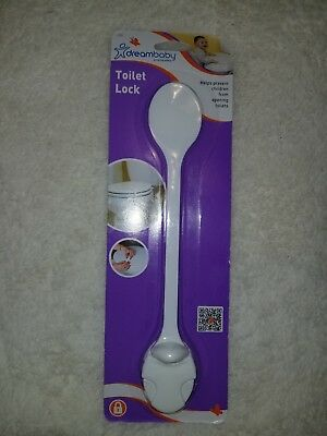 DreamBaby Toilet Lid Lock - Child Safety Appliance Cabinet Cupboard Strap L123